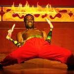 Danseur de Limbo et feu